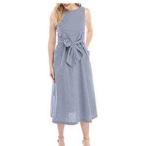 NWT Ann Klein Summer gingham dress sz L
